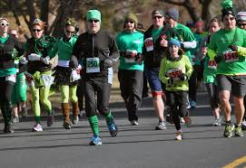 Runners competing in the St. Patrick's Day Dash 5K